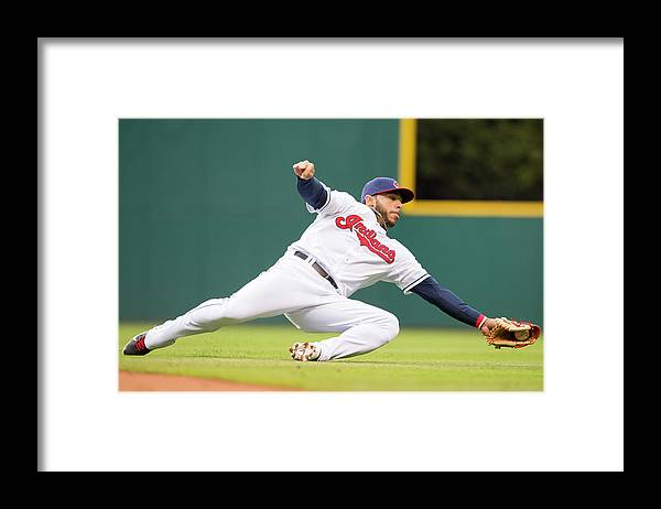American League Baseball Framed Print featuring the photograph Mike Aviles by Jason Miller