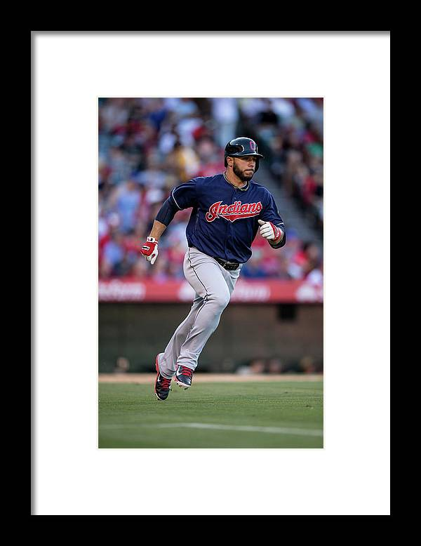 American League Baseball Framed Print featuring the photograph Mike Aviles by Paul Spinelli