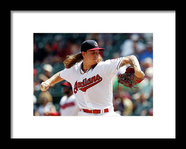 American League Baseball Framed Print featuring the photograph Mike Clevinger by David Maxwell