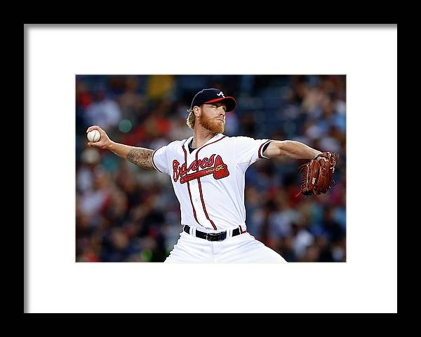 Atlanta Framed Print featuring the photograph Mike Foltynewicz by Mike Zarrilli