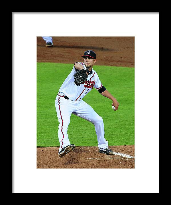 Atlanta Framed Print featuring the photograph Mike Minor by Scott Cunningham