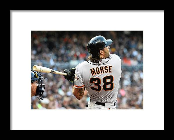 Mike Morse Framed Print featuring the photograph Mike Morse by Denis Poroy