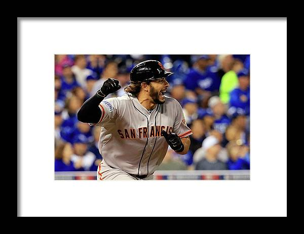 Mike Morse Framed Print featuring the photograph Mike Morse by Rob Carr