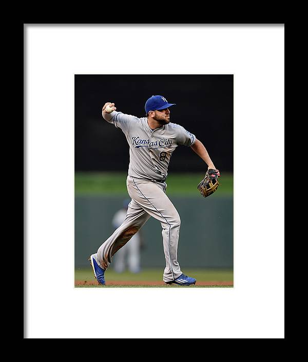People Framed Print featuring the photograph Mike Moustakas and Trevor Plouffe by Hannah Foslien