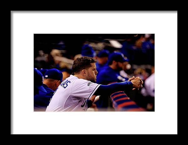 People Framed Print featuring the photograph Mike Moustakas by Rob Carr