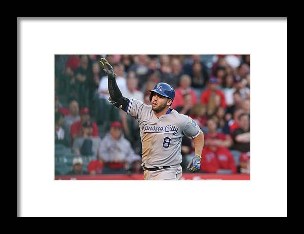 Three Quarter Length Framed Print featuring the photograph Mike Moustakas by Stephen Dunn