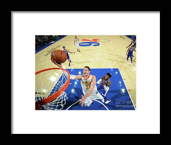 Nba Pro Basketball Framed Print featuring the photograph Mike Muscala by Jesse D. Garrabrant