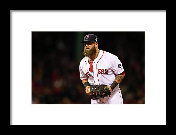 Game Two Framed Print featuring the photograph Mike Napoli by Elsa