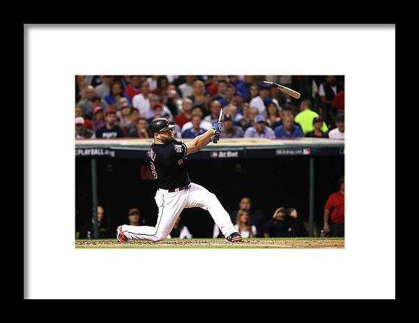 People Framed Print featuring the photograph Mike Napoli by Ezra Shaw