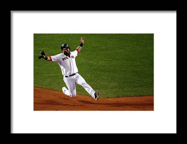 American League Baseball Framed Print featuring the photograph Mike Napoli by Jim Rogash