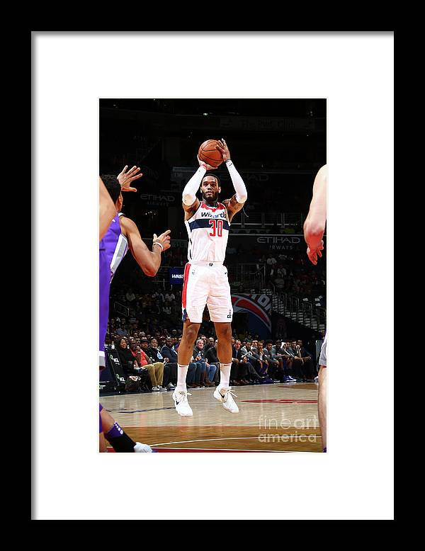 Nba Pro Basketball Framed Print featuring the photograph Mike Scott by Ned Dishman