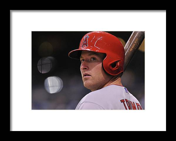 People Framed Print featuring the photograph Mike Trout by Al Messerschmidt