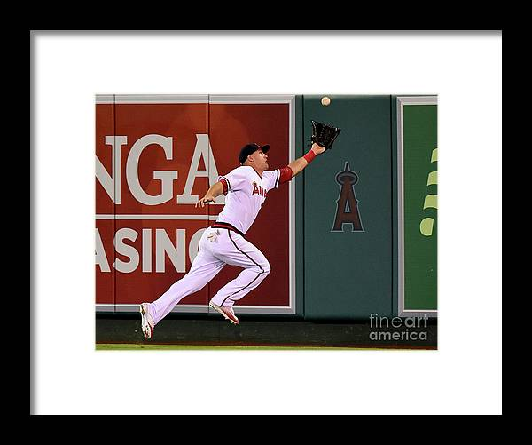 People Framed Print featuring the photograph Mike Trout and Adam Eaton by Harry How