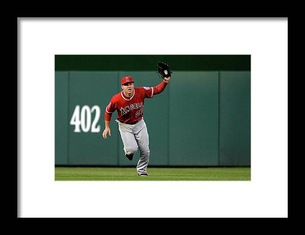 Mike Trout Framed Print featuring the photograph Mike Trout and Bryce Harper by Patrick Smith
