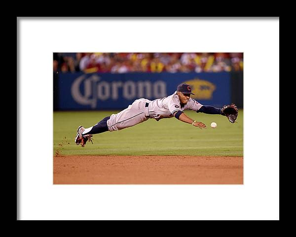 People Framed Print featuring the photograph Mike Trout and Francisco Lindor by Harry How