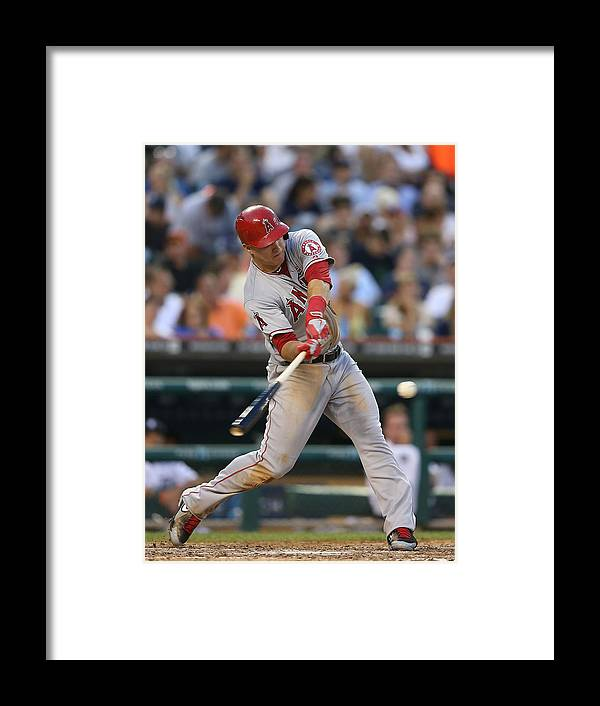 Mike Trout Framed Print featuring the photograph Mike Trout and Hank Conger by Leon Halip