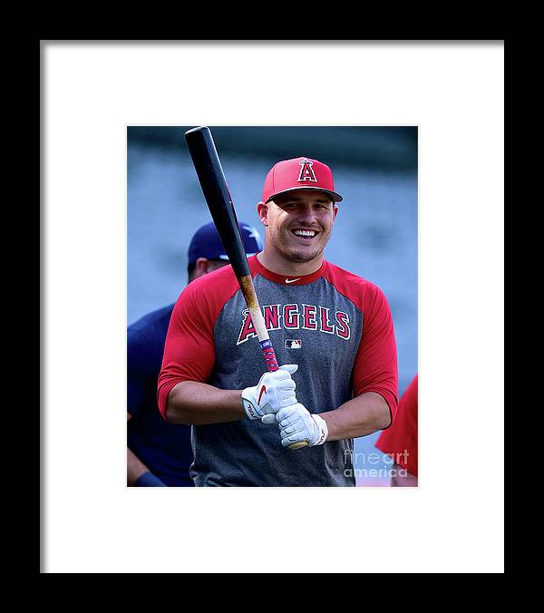 People Framed Print featuring the photograph Mike Trout by Harry How