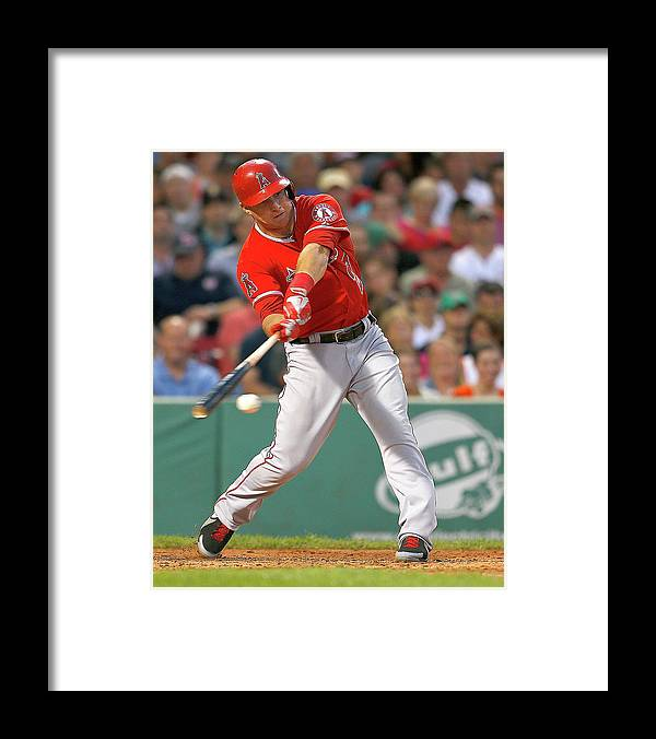People Framed Print featuring the photograph Mike Trout by Jim Rogash