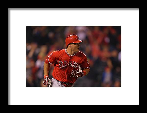 People Framed Print featuring the photograph Mike Trout by Justin Edmonds