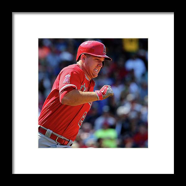 People Framed Print featuring the photograph Mike Trout by Maddie Meyer