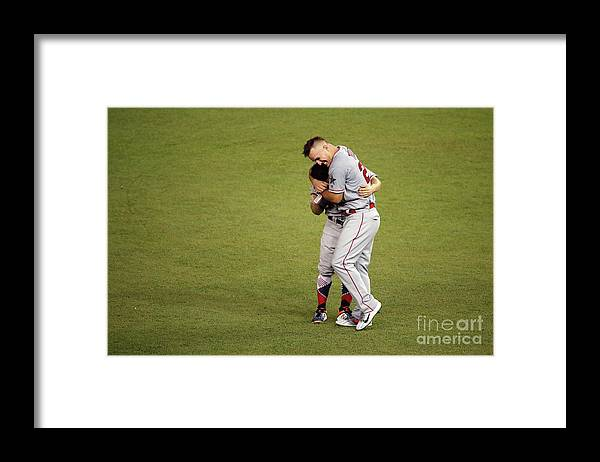 People Framed Print featuring the photograph Mike Trout by Patrick Mcdermott