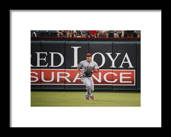 People Framed Print featuring the photograph Mike Trout by Ron Jenkins
