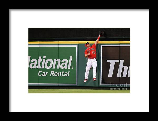 People Framed Print featuring the photograph Mike Trout by Sean M. Haffey