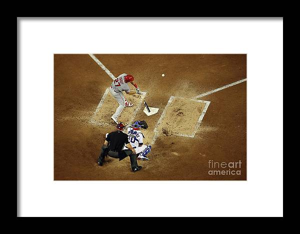 People Framed Print featuring the photograph Mike Trout by Win Mcnamee
