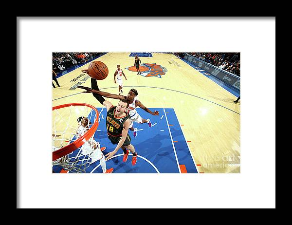 Nba Pro Basketball Framed Print featuring the photograph Miles Plumlee by Nathaniel S. Butler