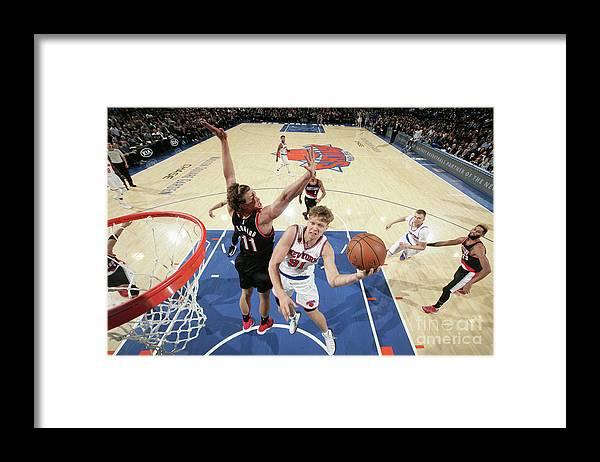 Nba Pro Basketball Framed Print featuring the photograph Mindaugas Kuzminskas by Nathaniel S. Butler