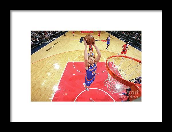 Nba Pro Basketball Framed Print featuring the photograph Mindaugas Kuzminskas by Ned Dishman