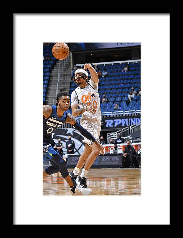 Nba Pro Basketball Framed Print featuring the photograph Minnesota Timberwolves v Orlando Magic by Fernando Medina