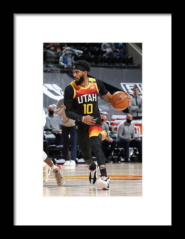 Nba Pro Basketball Framed Print featuring the photograph Minnesota Timberwolves v Utah Jazz by Melissa Majchrzak