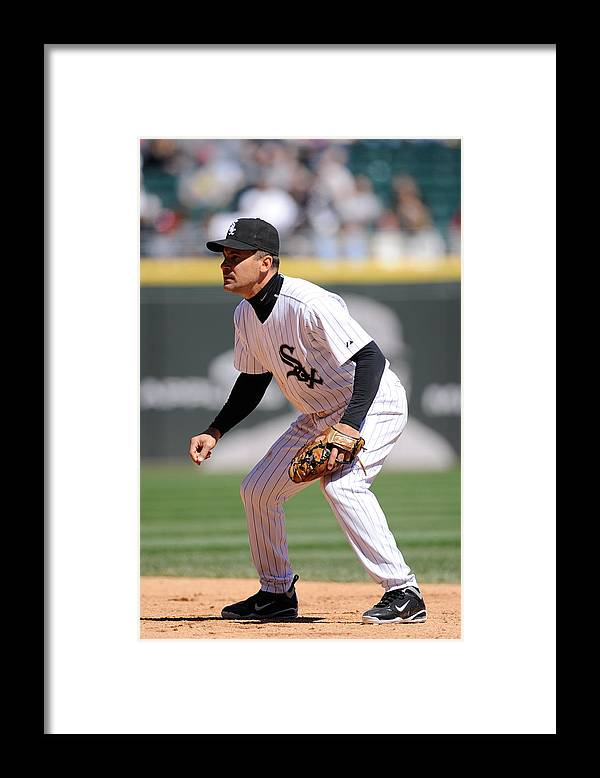 American League Baseball Framed Print featuring the photograph Minnesota Twins v. Chicago White Sox by Ron Vesely
