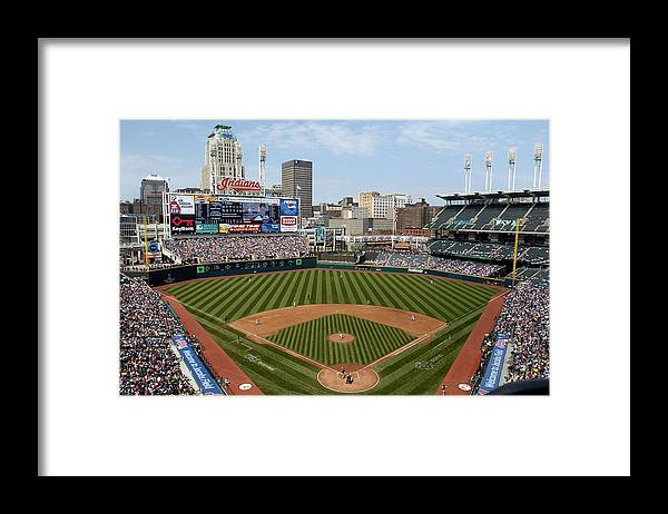 American League Baseball Framed Print featuring the photograph Minnesota Twins v Cleveland Indians by David Maxwell