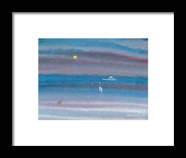 In The Mist Of The Night Framed Print featuring the painting Misty Fairies by Mui-Joo Wee