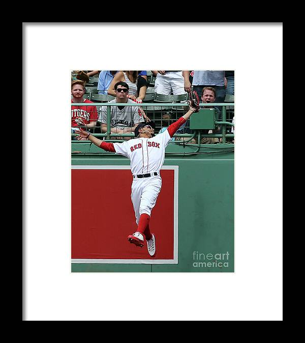 People Framed Print featuring the photograph Mitch Haniger and Mookie Betts by Jim Rogash