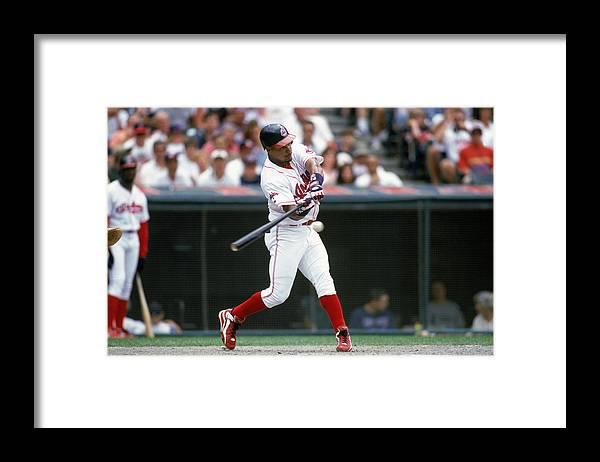 American League Baseball Framed Print featuring the photograph MLB Photos Archive by John Reid III