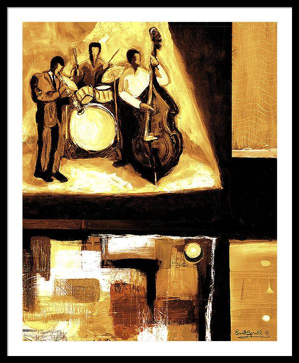 Everett Spruill Framed Print featuring the painting Modern Jazz Number Two by Everett Spruill