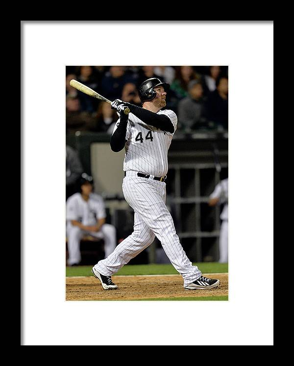 Following Framed Print featuring the photograph Moises Sierra and Adam Dunn by Brian Kersey