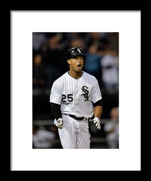 Ninth Inning Framed Print featuring the photograph Moises Sierra by Brian Kersey