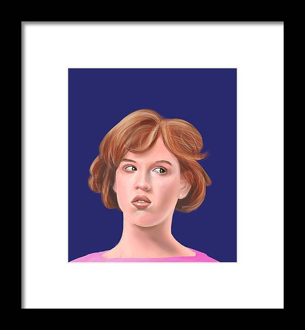 Molly Framed Print featuring the digital art Molly Ringwald by Buffalo Bonker