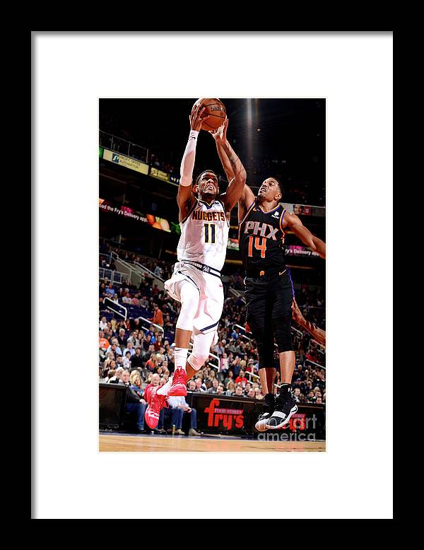 Nba Pro Basketball Framed Print featuring the photograph Monte Morris by Barry Gossage