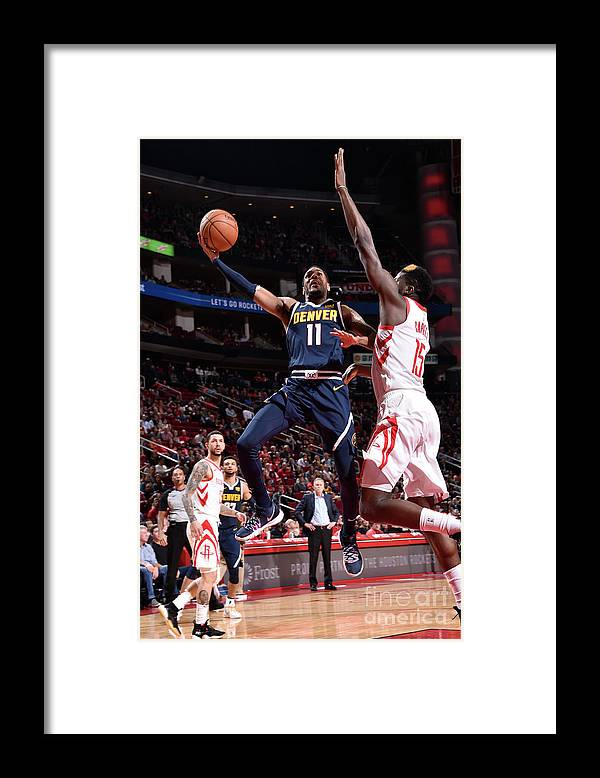 Nba Pro Basketball Framed Print featuring the photograph Monte Morris by Bill Baptist