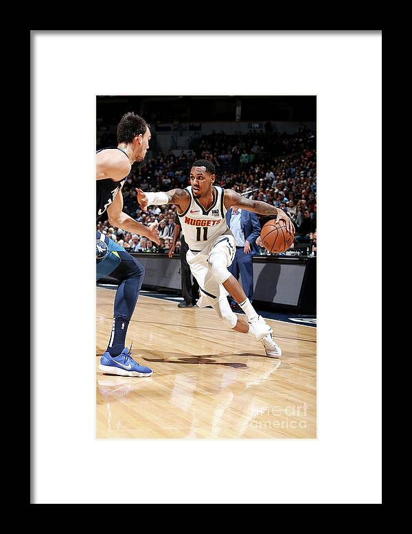 Nba Pro Basketball Framed Print featuring the photograph Monte Morris by David Sherman