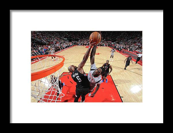 Nba Pro Basketball Framed Print featuring the photograph Montrezl Harrell and Marreese Speights by Bill Baptist