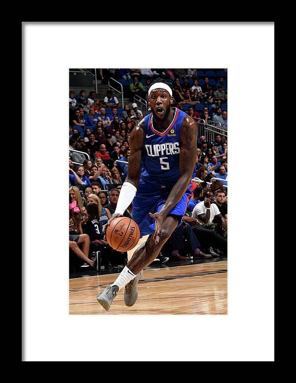 Nba Pro Basketball Framed Print featuring the photograph Montrezl Harrell by Fernando Medina