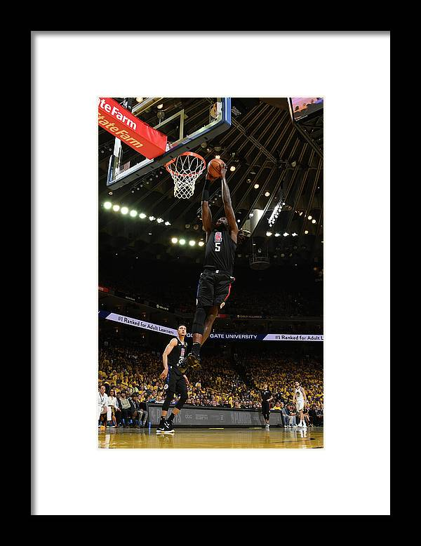 Playoffs Framed Print featuring the photograph Montrezl Harrell by Noah Graham