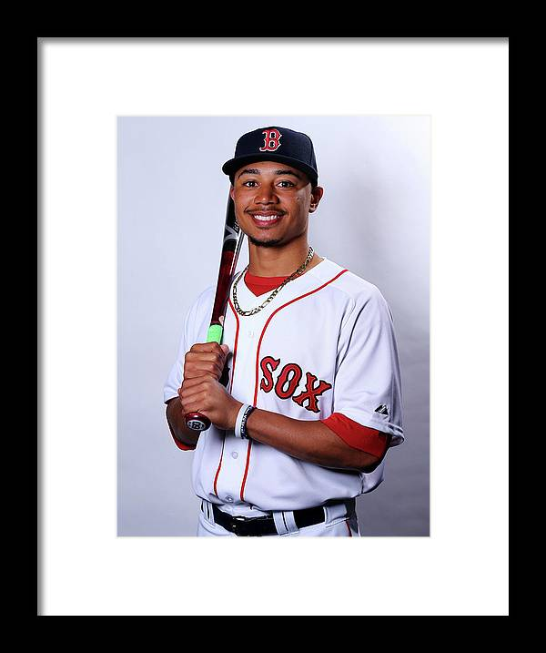 People Framed Print featuring the photograph Mookie Betts by Elsa