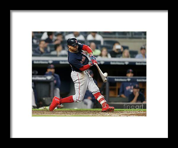 People Framed Print featuring the photograph Mookie Betts by Jim Mcisaac